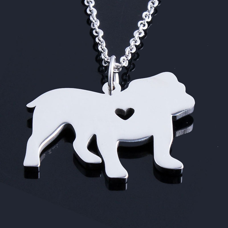 English Bulldog Stainless Steel Necklace