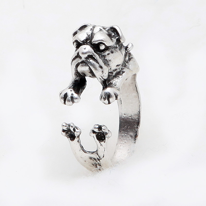 English Bulldog Adjustable Wrap Ring