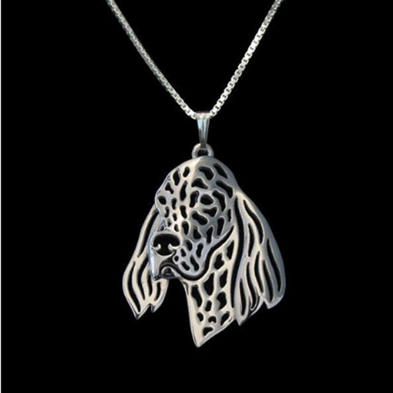 English Setter Boho Cutout Necklace