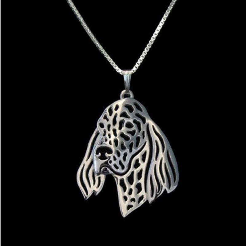 English Setter Boho Cutout Necklace