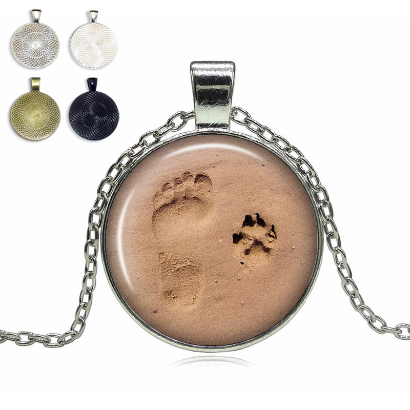 necklace products paw veterinarian photo image memory product locket frame dog cat footprint