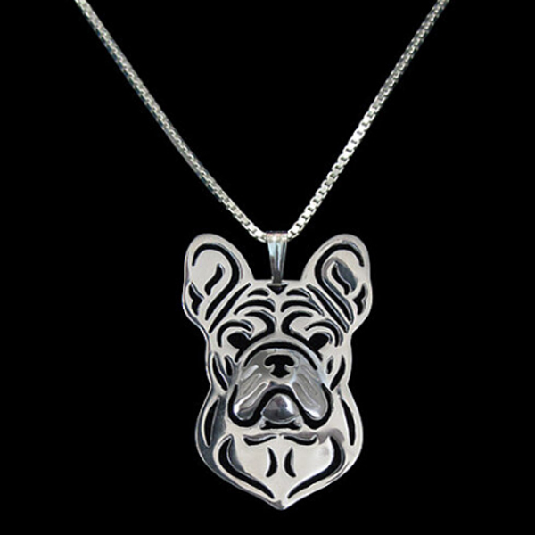 French Bulldog Boho Cutout Necklace