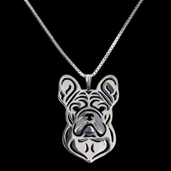 French Bulldog Boho Cutout Necklace