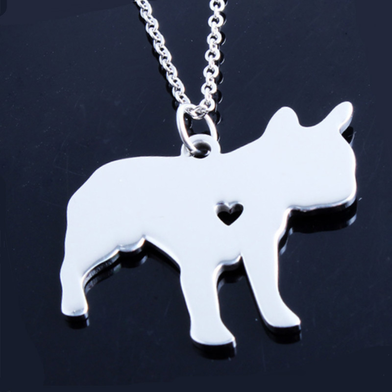 French Bulldog Stainless Steel Necklace