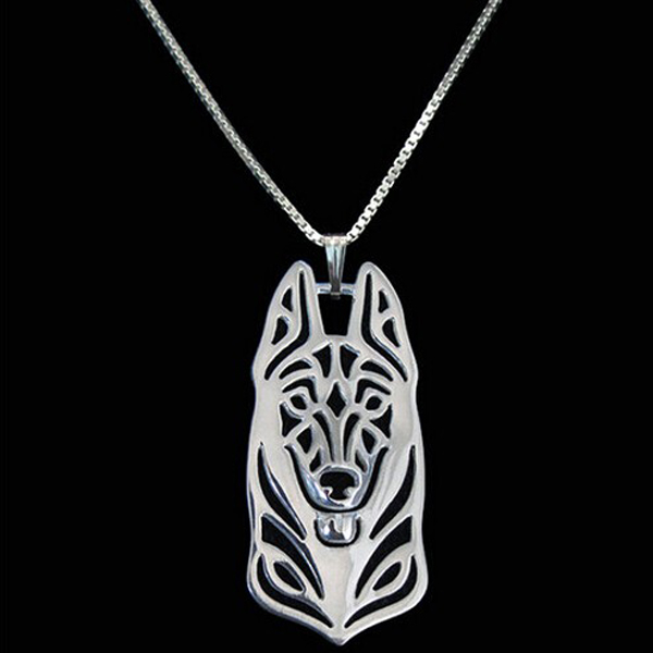 German Shepherd Boho Cutout Necklace