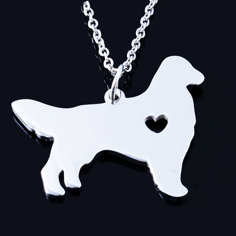 Golden Retriever Stainless Steel Necklace