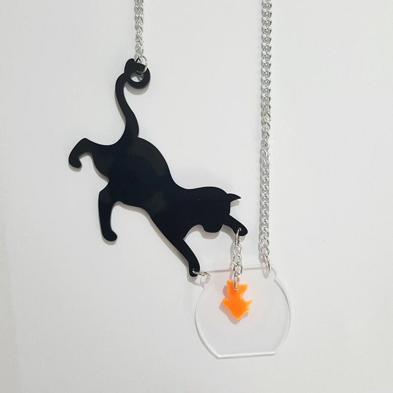 Great Catch Kitty Necklace
