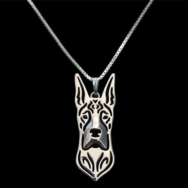 Great Dane Boho Cutout Necklace - Cropped Ears