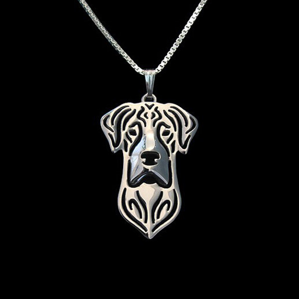 Great Dane Boho Cutout Necklace - Natural Ears