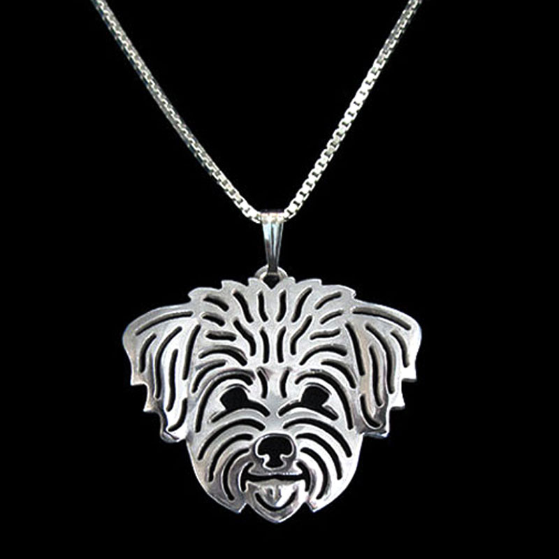 Havanese Boho Cutout Necklace – Short Hair