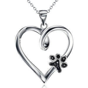 Heart And Paw 925 Sterling Silver Necklace