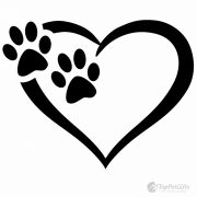 Heart & Paw Vinyl Decal