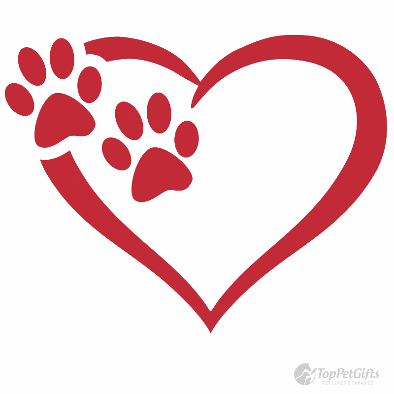 Heart & Paws Vinyl Decal - Top Pet Gifts