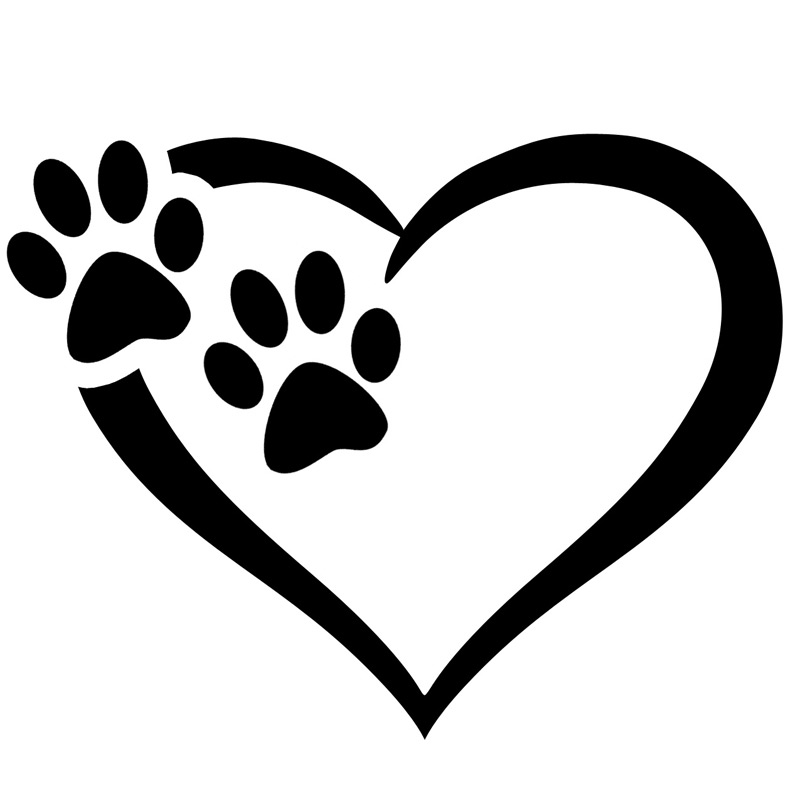 Heart Amp Paw Vinyl Decal Top Pet Gifts