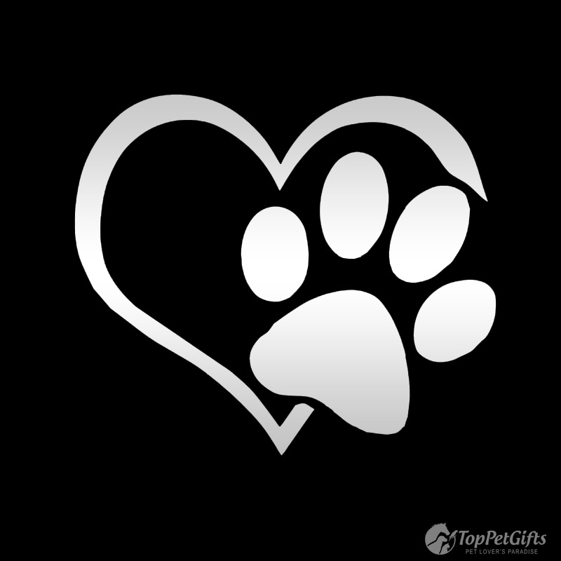 Heart and Paw Vinyl Decal