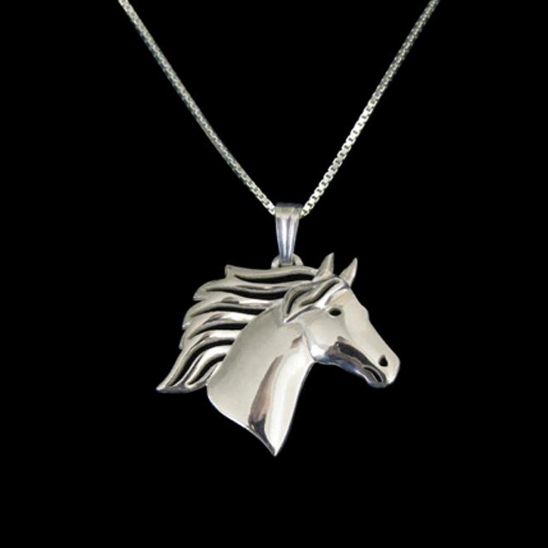 Horse Boho Cutout Necklace