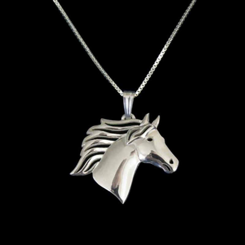 Horse Boho Cutout Necklace