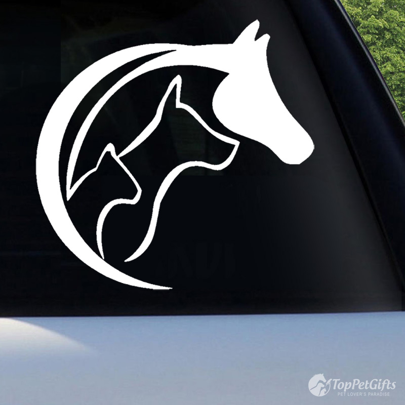 Horse, Dog and Cat Decal