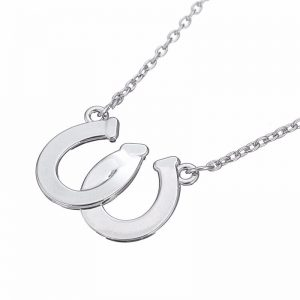 Horseshoe Necklace with Rhinestones