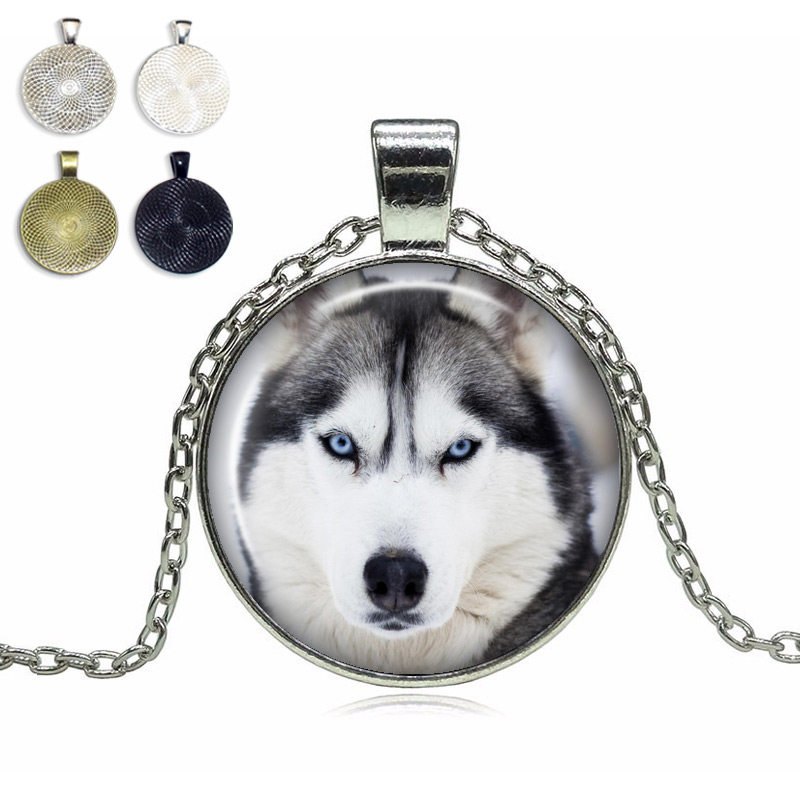Husky Glass Dome Necklace