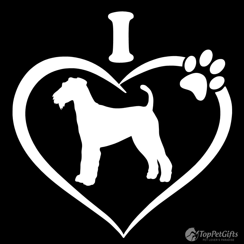 I Love My AIREDALE TERRIER Decal