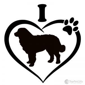 I Love My BERNESE MOUNTAIN DOG Decal