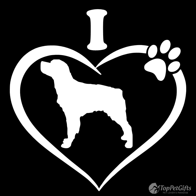 I Love My BRITTANY SPANIEL Decal