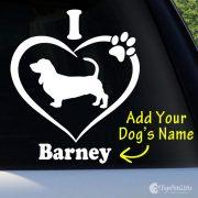 I Love My Basset Hound Decal