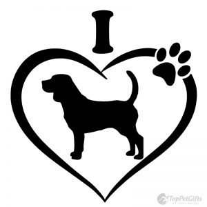 I Love My Beagle Decal