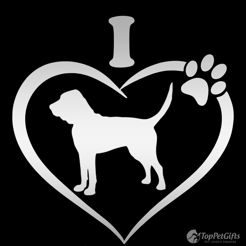 I Love My Bloodhound Decal