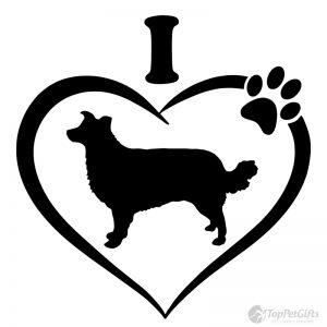 I Love My BORDER COLLIE Decal