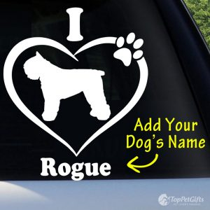I Love My Bouvier Decal