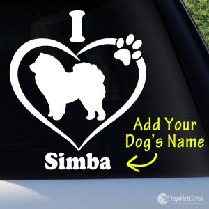 I Love My CHOW CHOW Decal
