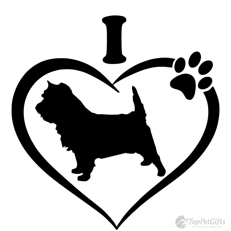 I Love My Cairn Terrier Decal