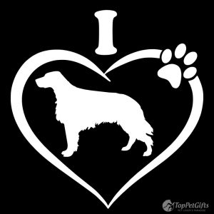I Love My ENGLISH SETTER Decal