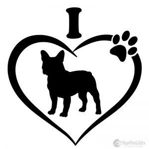 I Love My French Bulldog Decal