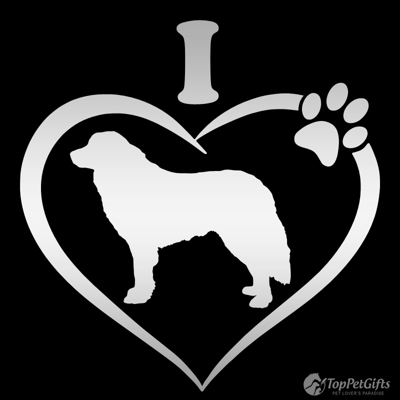 I Love My GREAT PYRENEES Decal