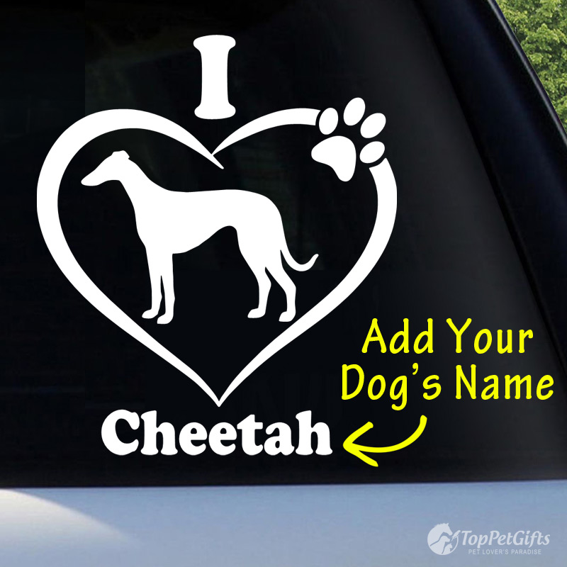 I Love My Greyhound Decal