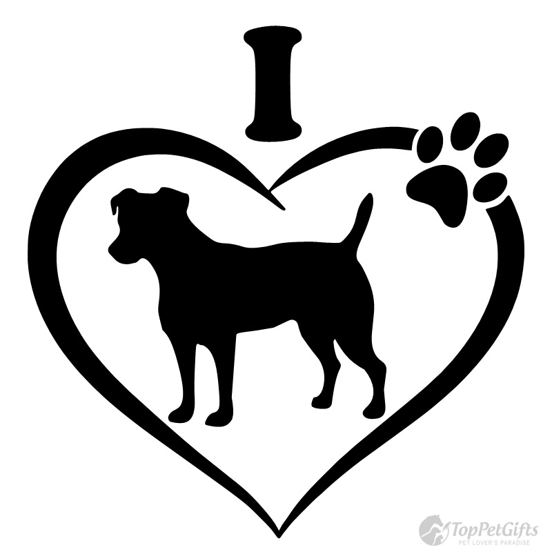 I Love My JACK RUSSELL TERRIER Decal