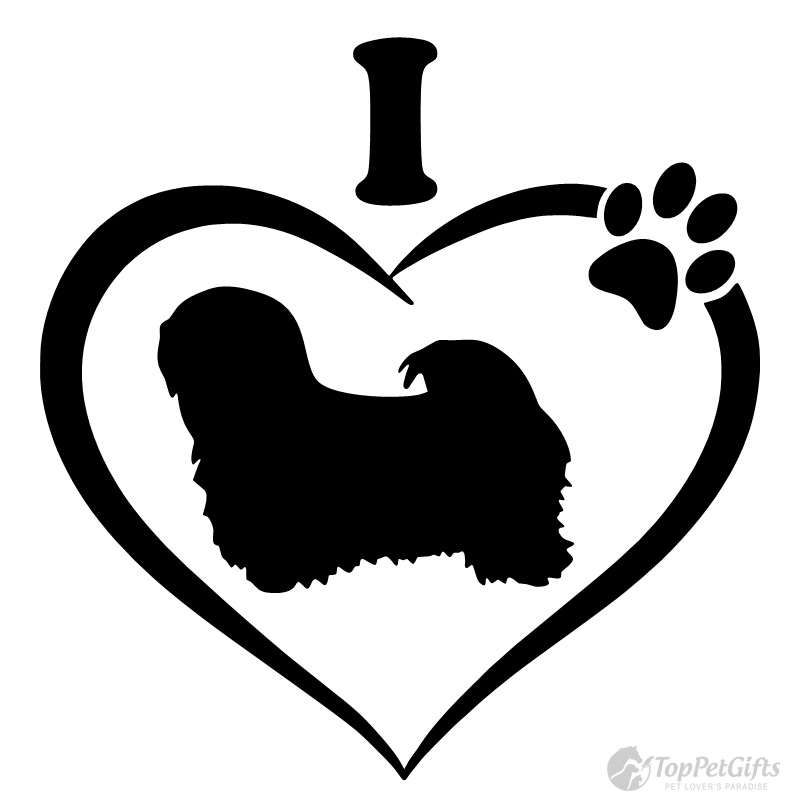 I Love My LHASA APSO Decal
