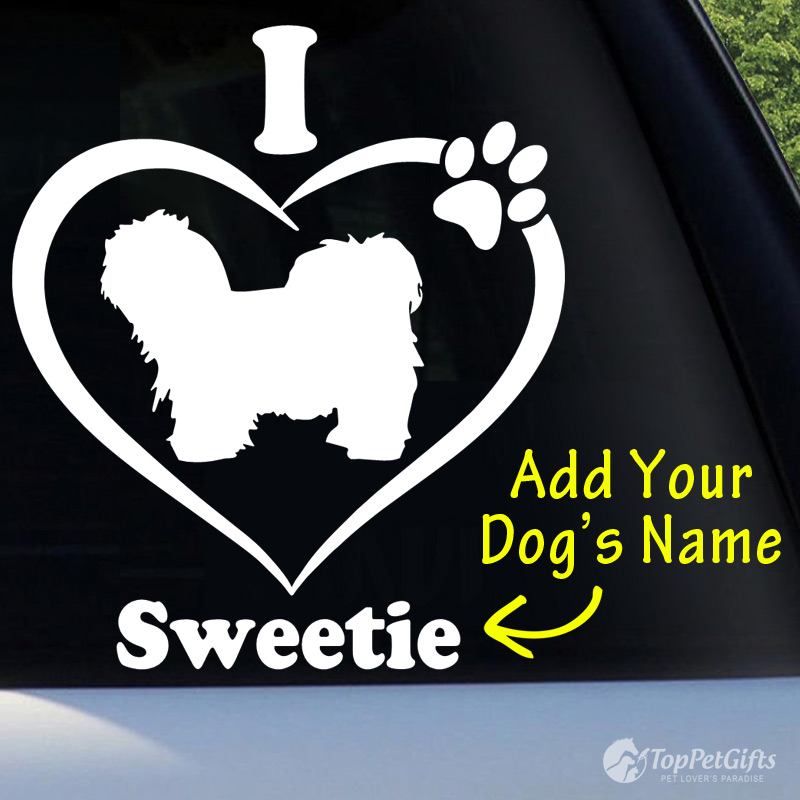 I Love My Maltipoo Decal