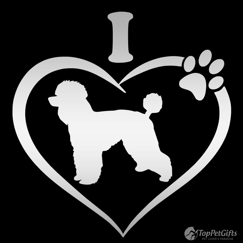 I Love My POODLE Decal