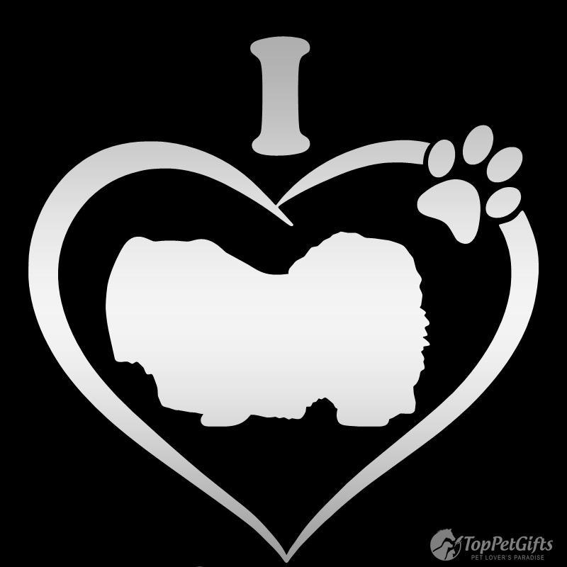 I Love My Pekingese Decal