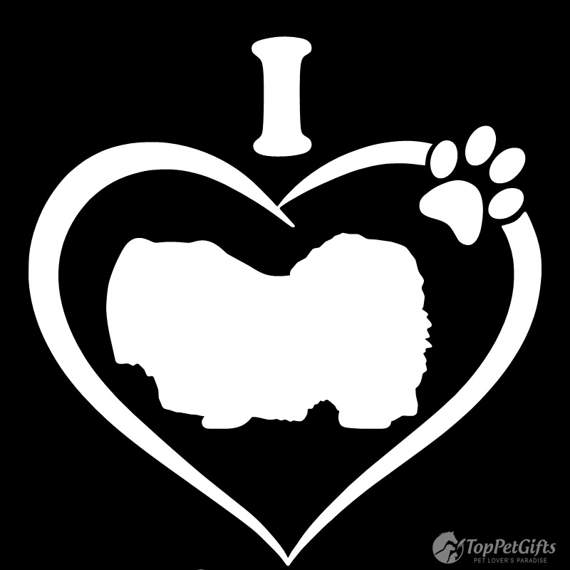 I Love My Pekingese Decal