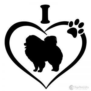 I Love My Pomeranian Decal