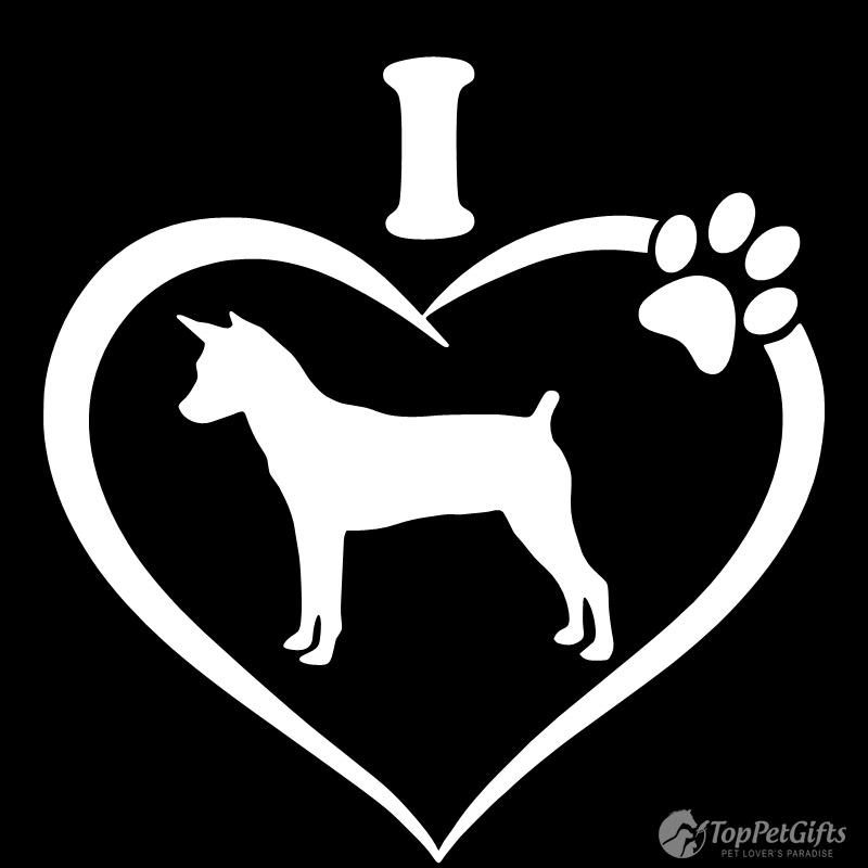 I Love My Rat Terrier Decal