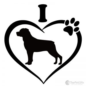 I Love My Rottweiler Decal