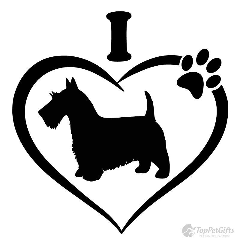 I Love My SCOTTISH TERRIER Decal