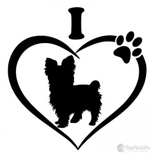I Love My YORKSHIRE TERRIER Decal