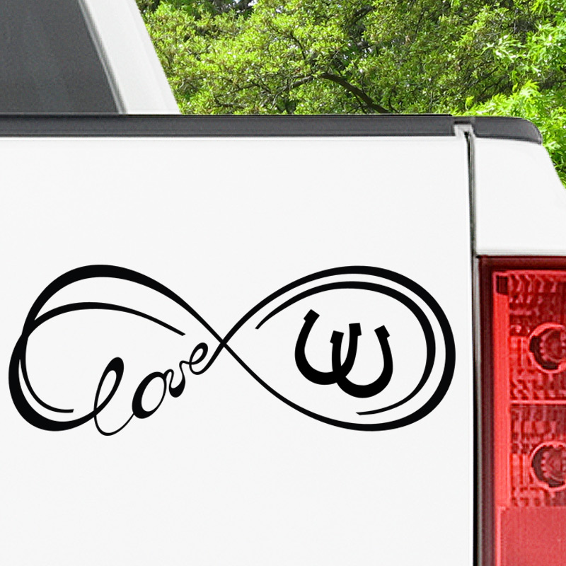 Infinity Horseshoe Decal